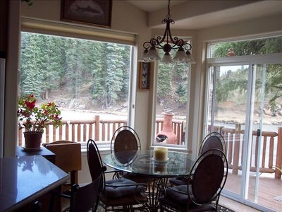 Breakfast Area Overlooking Trout Pond