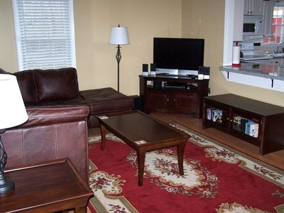 Upper Living Room is Roomy and comfortable. Quality throughout!