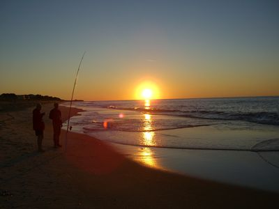 Sunrise and Surf Casting appeal to the fishermen and beach walkers alike.