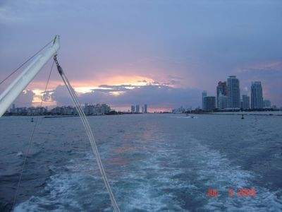 Enjoy the cruise with beautiful sunset views