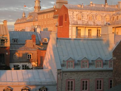'Old Quebec' seen from rooftops in the city...with the glow of autumn colours.