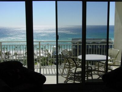 Beautiful View of The Gulf of Mexico and Beach from Living Area