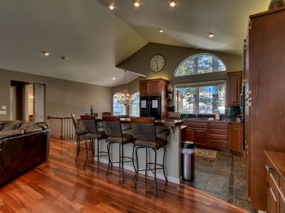 Kitchen is perfect for entertaining.