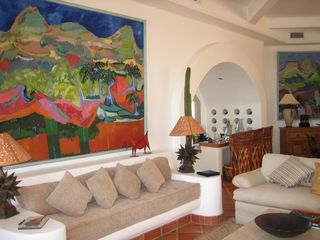 One of many seating areas with ocean views. - Cabo San Lucas villa vacation rental photo