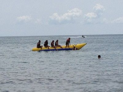 Ride the Banana Boat (you can rent it in a store in front the beach)