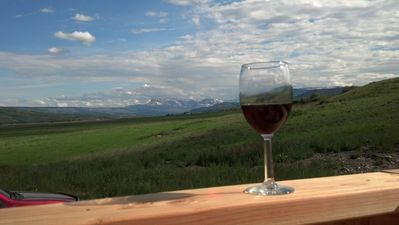 Enjoy an evening glass of wine after a full day of hiking Glacier Park