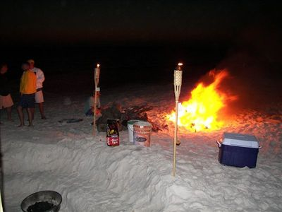 Great bonfires on the beach