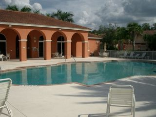 Only a few steps to the clubhouse with heated pool, fitness center and library.