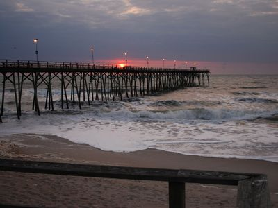 Kure Beach Pier at Sunrise... Only 1.5 miles north for the fishermen!