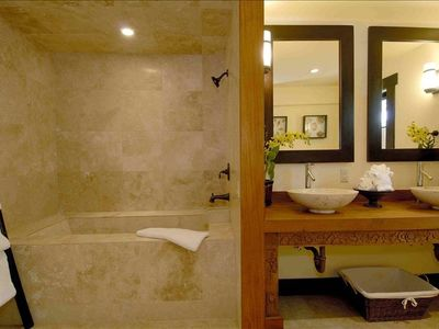 Marble- Spa Bathrooms, Bali style