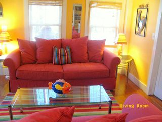 Provincetown townhome photo - Have a seat on the comfy couch,