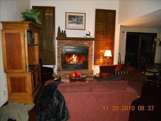 Durango condo photo - Fireplace with wood provided and soft throws for cold evenings