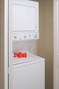 Washer and Dryer inside Apartment