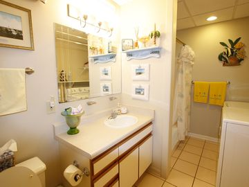 full bath with tub/shower and washer and dryer