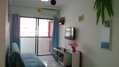 Apartment 1 suite with an additional bedroom-3 air condicion-large balcony-front av. br