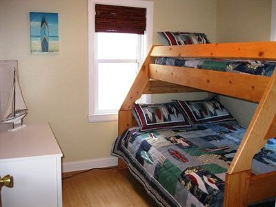 2nd bedroom with all new furniture. Twin over double bunkbed.