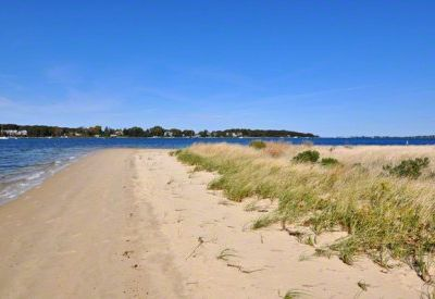 Sandy Point's Private Beach Runs For More than 500 Feet And Is Reached By A Set of Private Stairs From the House