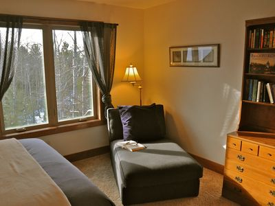 Fish Creek chalet rental - A comfy spot to curl up with a book