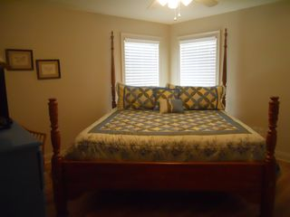 Gulf Shores property rental photo - Upstairs bedroom, king bed with view of ocean