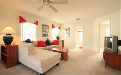 Enjoy the seperate seating area and large walk in closet in master bedroom