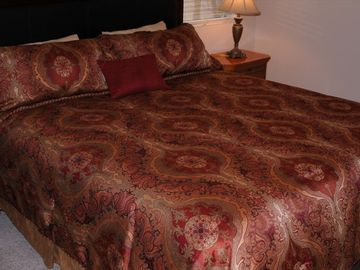 KING BED IN GUEST BEDROOM #3