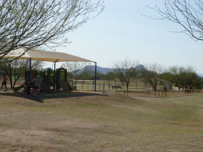 Community Park and Playground. Dog park is a part of this recreation area.