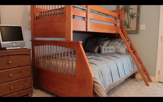 South Padre Island condo photo - Master Bedroom has Queen Bed and separate Bunk Bed (Queen and Twin Bed on top)