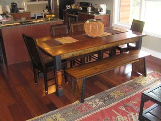 Lincoln townhome photo - Solid Barnboard Table Awaits You When Its Time To Re-Fuel Yourself