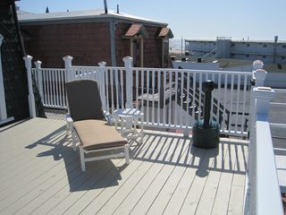 Cape May house photo - View 3 - New Back Top Deck and New Chaise Lounges - March 2012