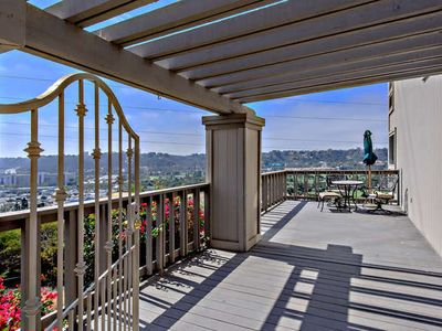 Entrance Patio with a view of mission valley to mountains out east!