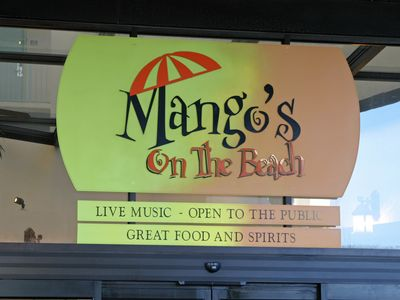 Walk over to Mango's On The Beach!