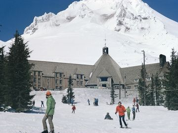 Mt. Hood's historic Timberline Lodge . . . the skier's mecca!