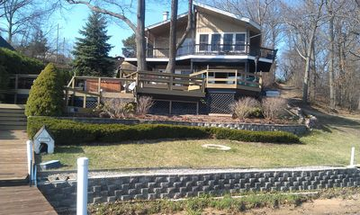 Saugatuck / Douglas house rental - Front of Home, view from dock
