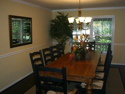 Gather the family in large separate dining room with seating for 10