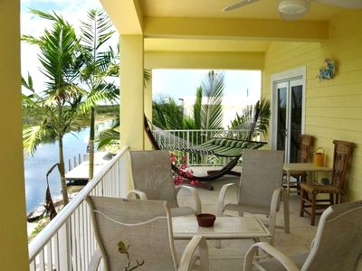 2nd floor patio, relax in hammock and birdwatch!  Outdoor grill for fresh catch!