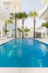 Rosemary Beach house photo - MAIN & CABANA--11' x 22' Pool, & Courtyard (w/Natural-Gas Grill)--