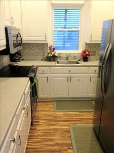 Kitchen with new Stainless Steel Appliances and High End Finishes.