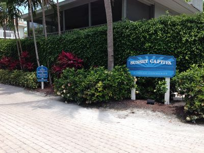Private entrance to the Sunset Captiva community