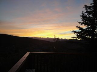 Heber City cabin photo - Sunset from Deck