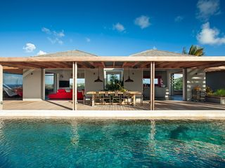 St Barthelemy villa photo - Villa Imagine - Covered Terrace
