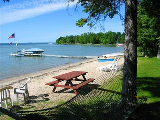 Burt Lake cottage photo - Safe sandy beach on Burt Lake