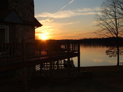 Huddleston chalet rental - Enjoy the beautiful sunsets over the water.