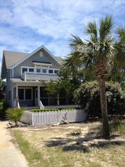 Bald Head Island house photo - Balvenie from the ocean side- 1 min walk 2 beach on child safe Scotch Bonnet Ln