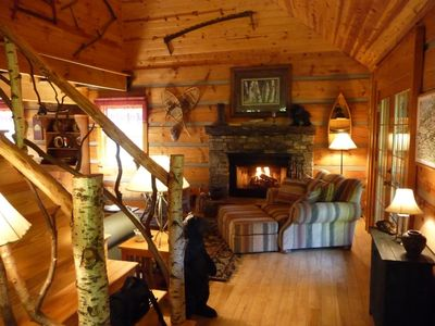 Hot Springs cabin rental - Come Sit by the Fire and Relax!