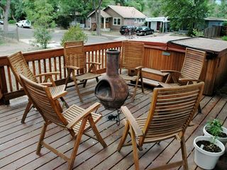 Gathering around the firepit - Colorado Springs house vacation rental photo