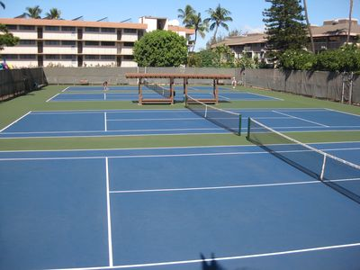 new surfaced tennis courts