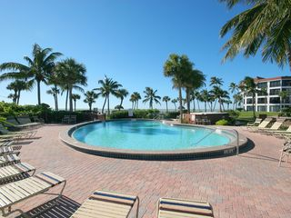 Sanibel Island condo photo - Poolside with a view of the beach!