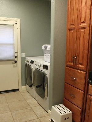 Extra capacity washer and dryer