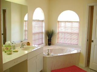 Cape Coral villa photo - Master Bathroom with a bath and a large shower.
