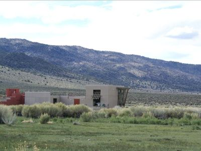 Modern Off-Grid Home with Views, 160 acres, above Benton Hot Springs with Tub